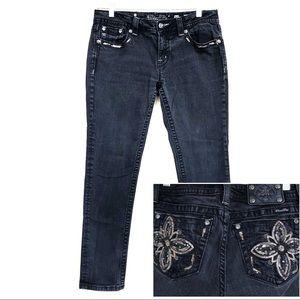 Miss Me Bling Black Signature Skinny Jeans 31